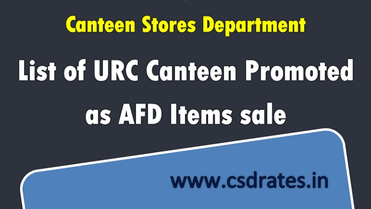 AFD Category 1 items List